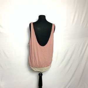 Free People Tops - Free People Sydney Taupe Sleeveless Bodysuit L